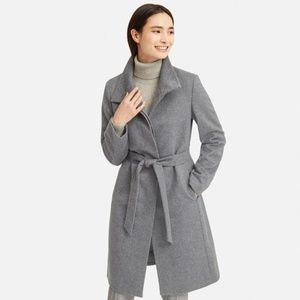 Uniqlo Cashmere Blended Stand Collar Coat